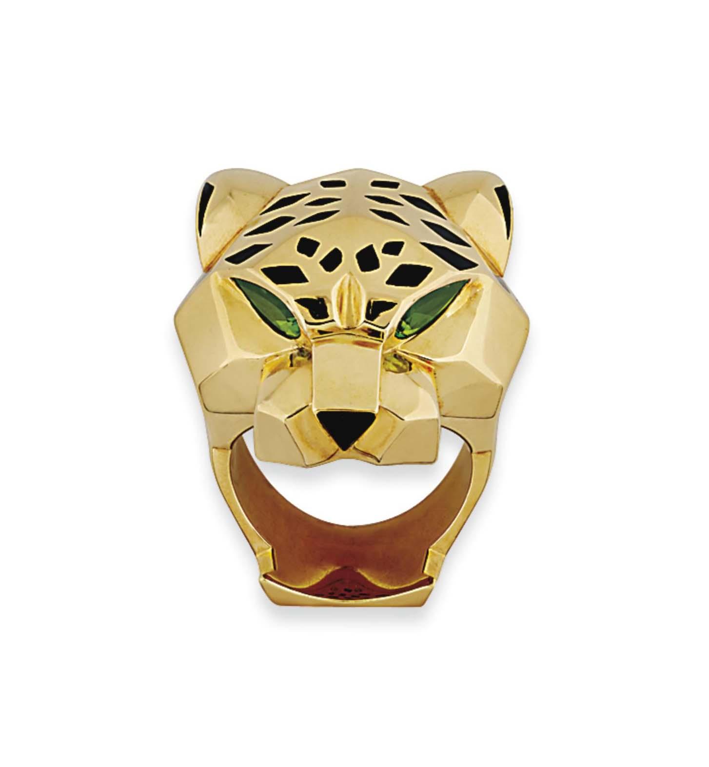 bu double ring panther cartier prod size p jaguar