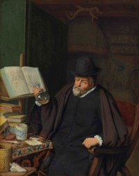 An apothecary in his study