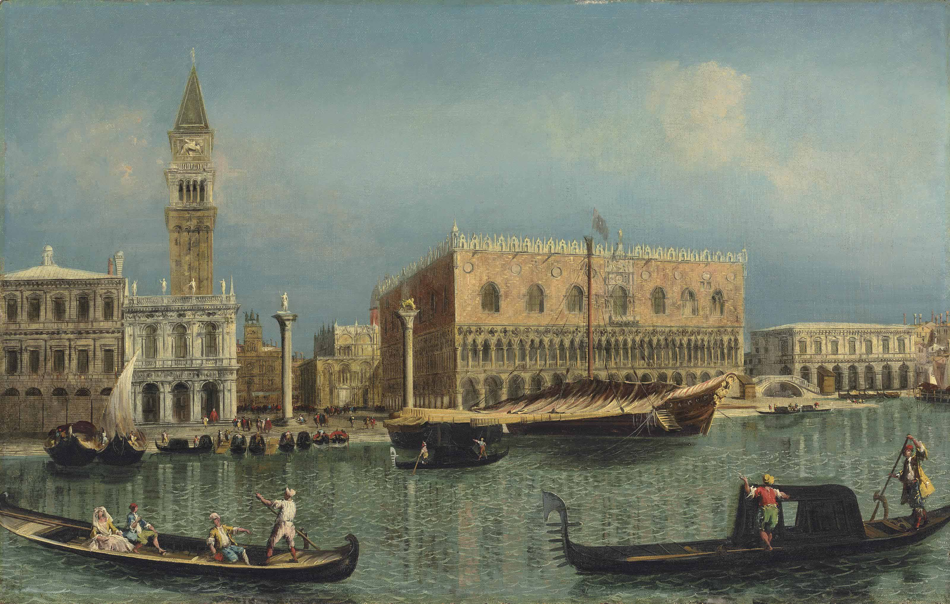 The Bacino di San Marco, Venice, with the Piazzetta and the Doge's Palace