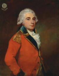 Portrait of General Albemarle Bertie, 9th Earl of Lindsay (1744-1818), half-length, in the uniform of the Grenadier guards