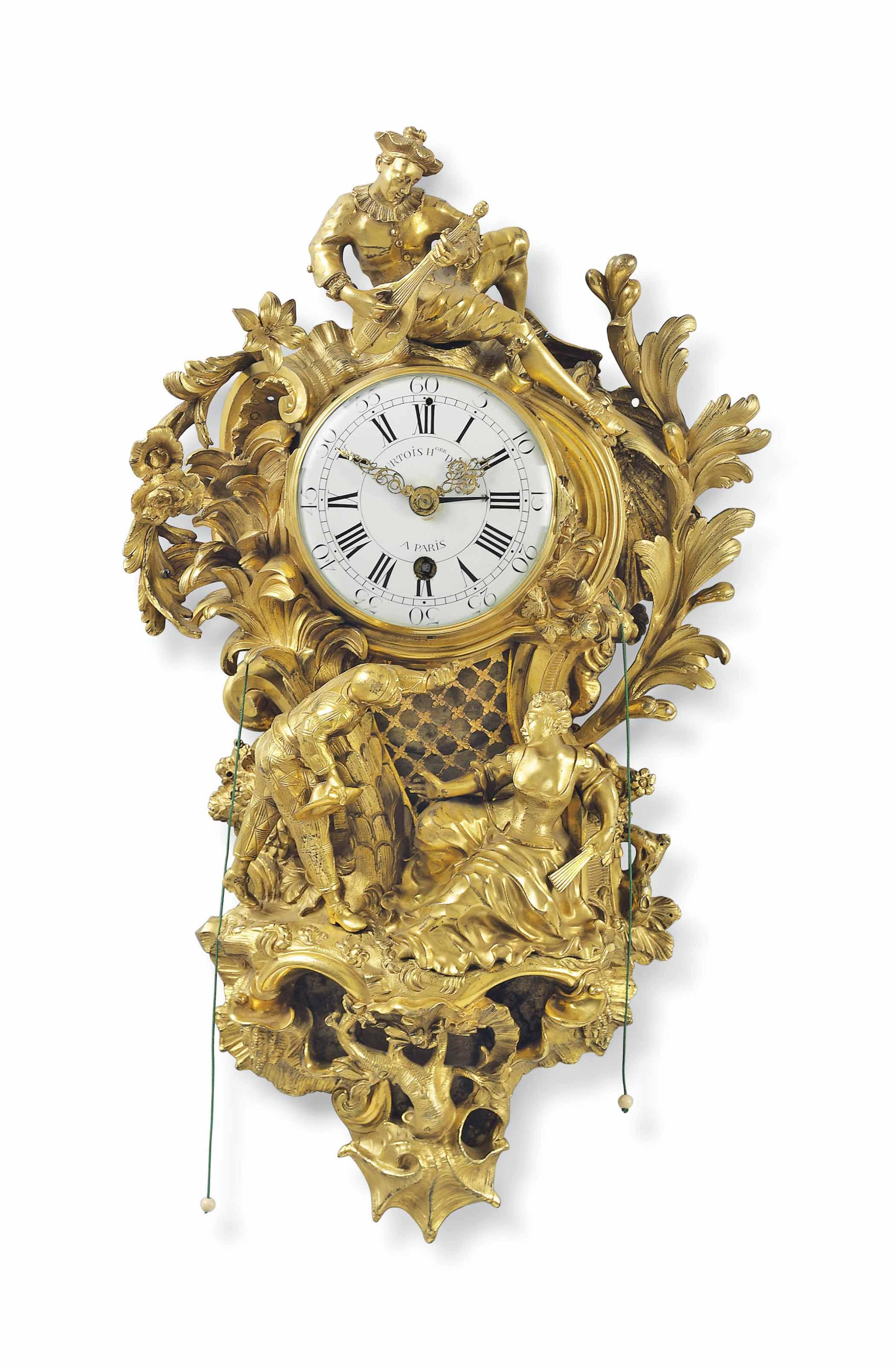 A LOUIS XV ORMOLU CARTEL TIMEP