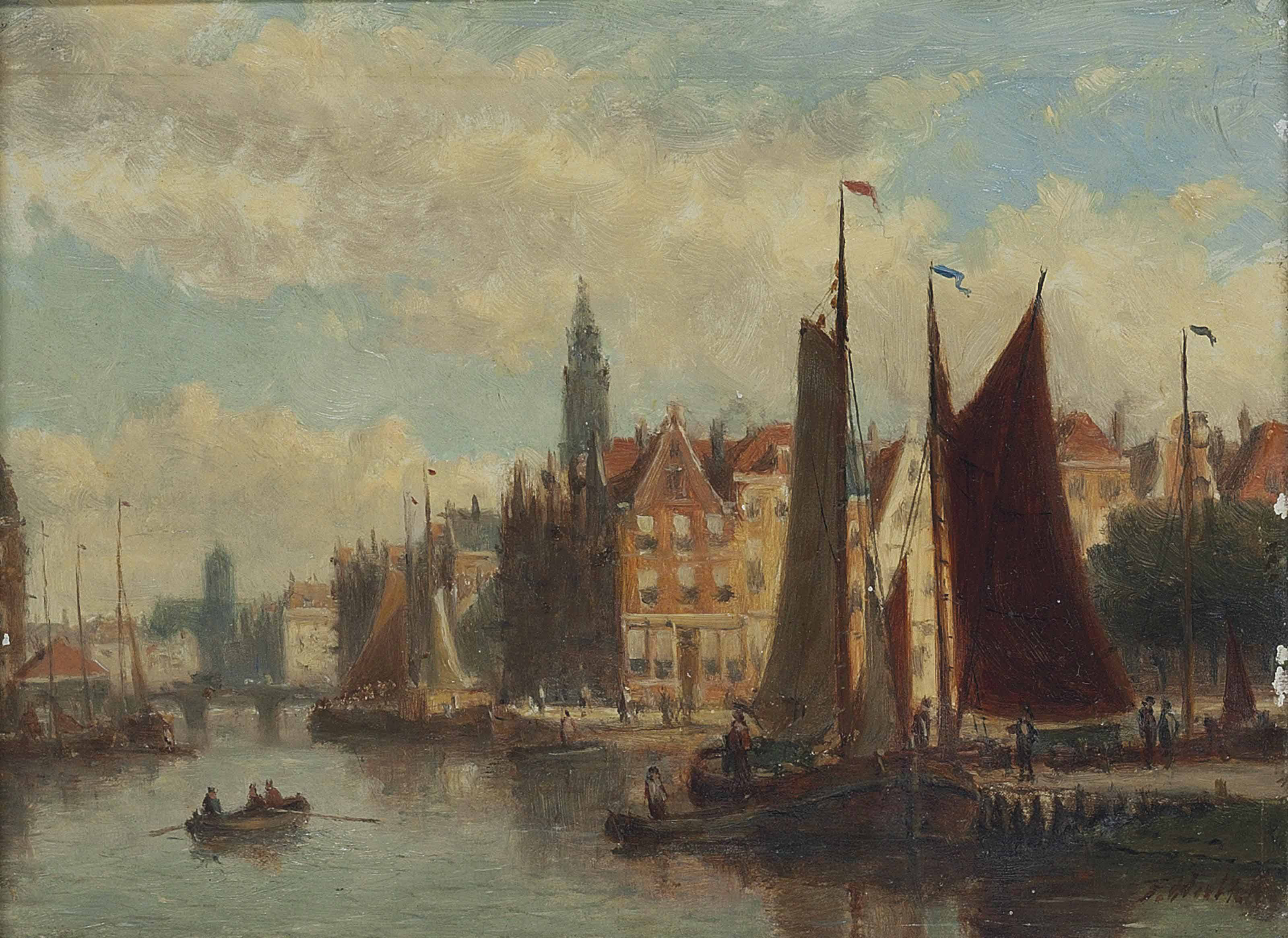 View of a canal, Haarlem
