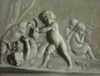 Putti with a Goat, Trompe-l'œil