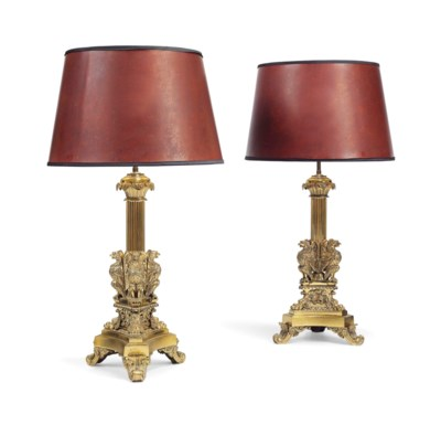 A PAIR OF GEORGE IV LACQUERED