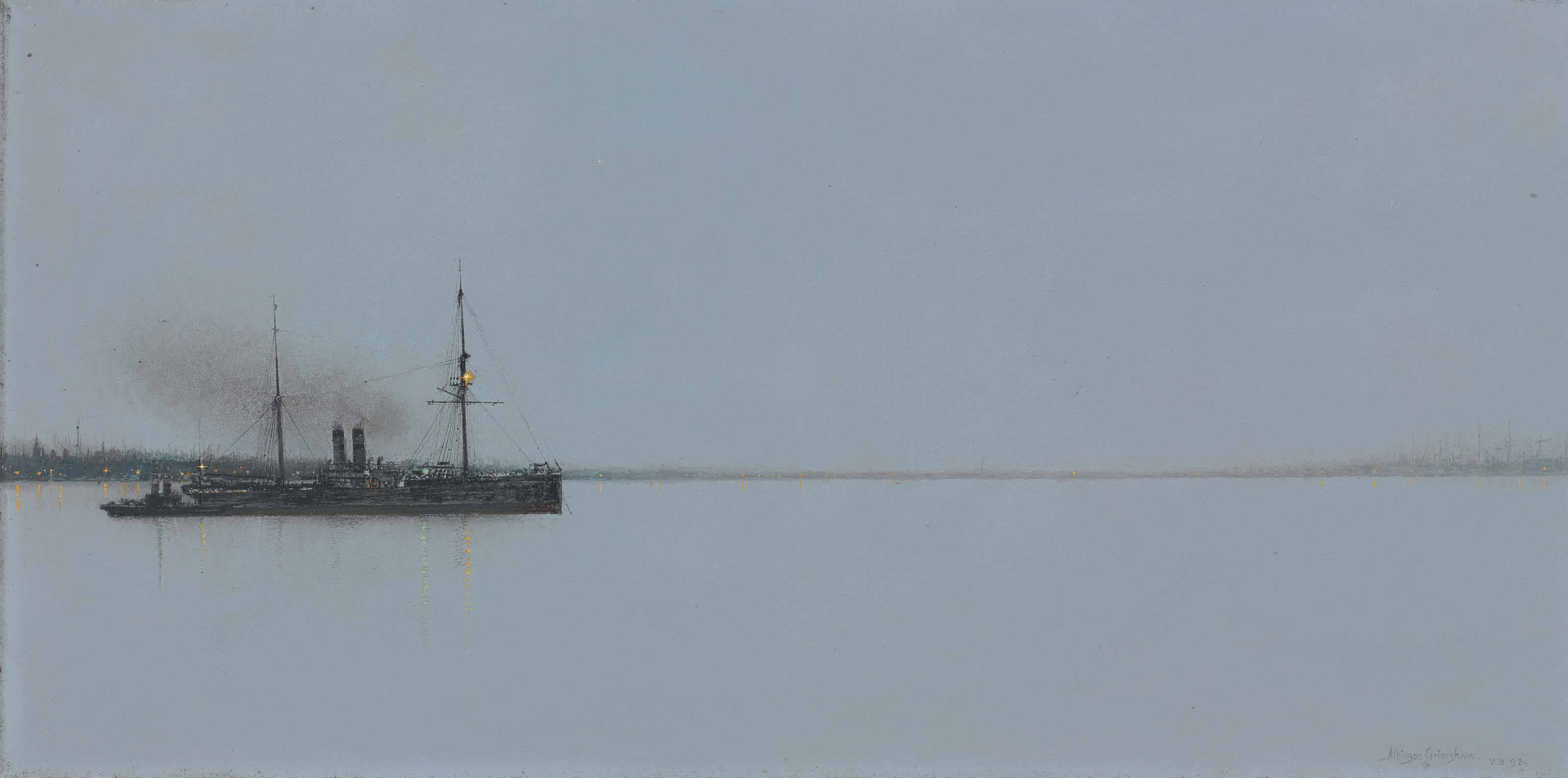 Dead calm - on the Mersey