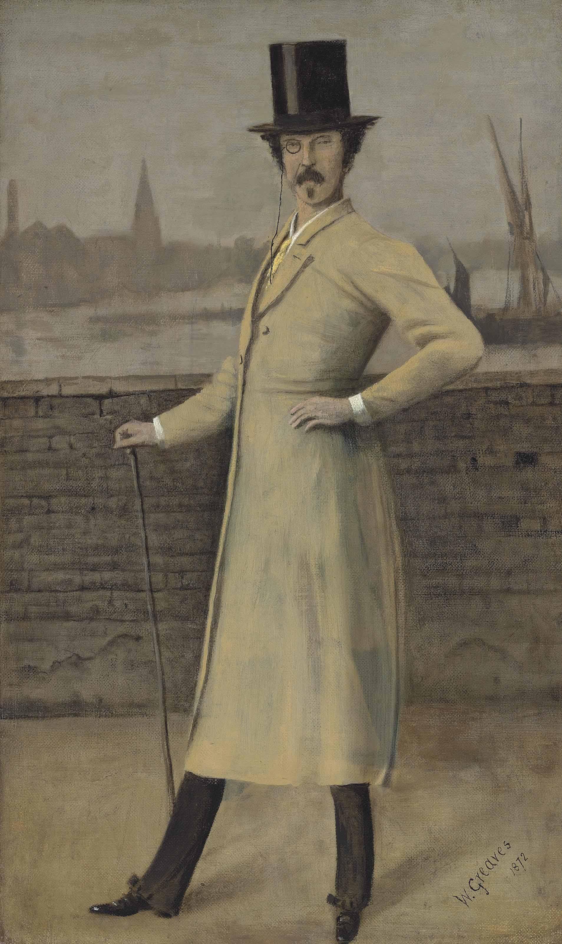 Portrait of James McNeill Whistler, standing, full-length