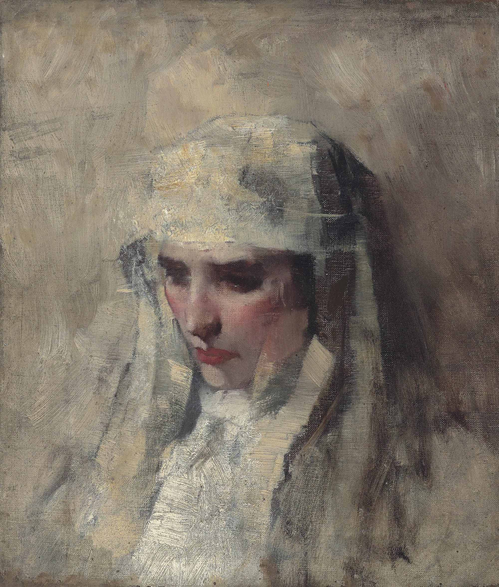 Study for 'Madonna and Child', circa 1892