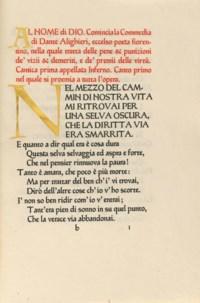 ASHENDENE PRESS -- DANTE ALIGHIERI (1265-1321). [La Divina Commedia.] Lo Inferno. Chelsea: Ashendene Press, 1902.