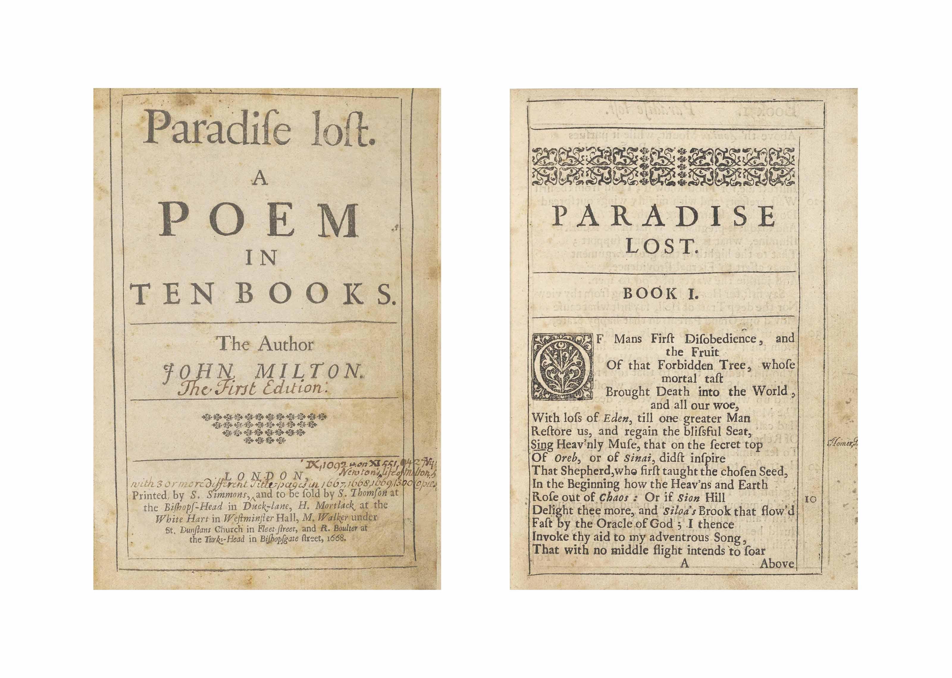 paradise lost poem