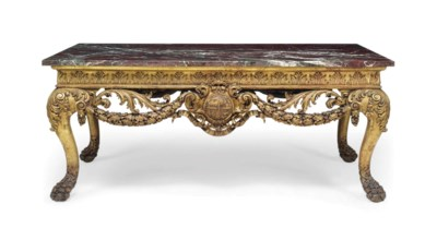 AN ENGLISH GILTWOOD CENTRE TAB