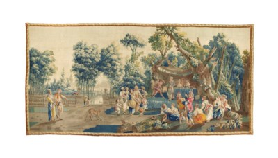 A FRENCH PASTORAL TAPESTRY