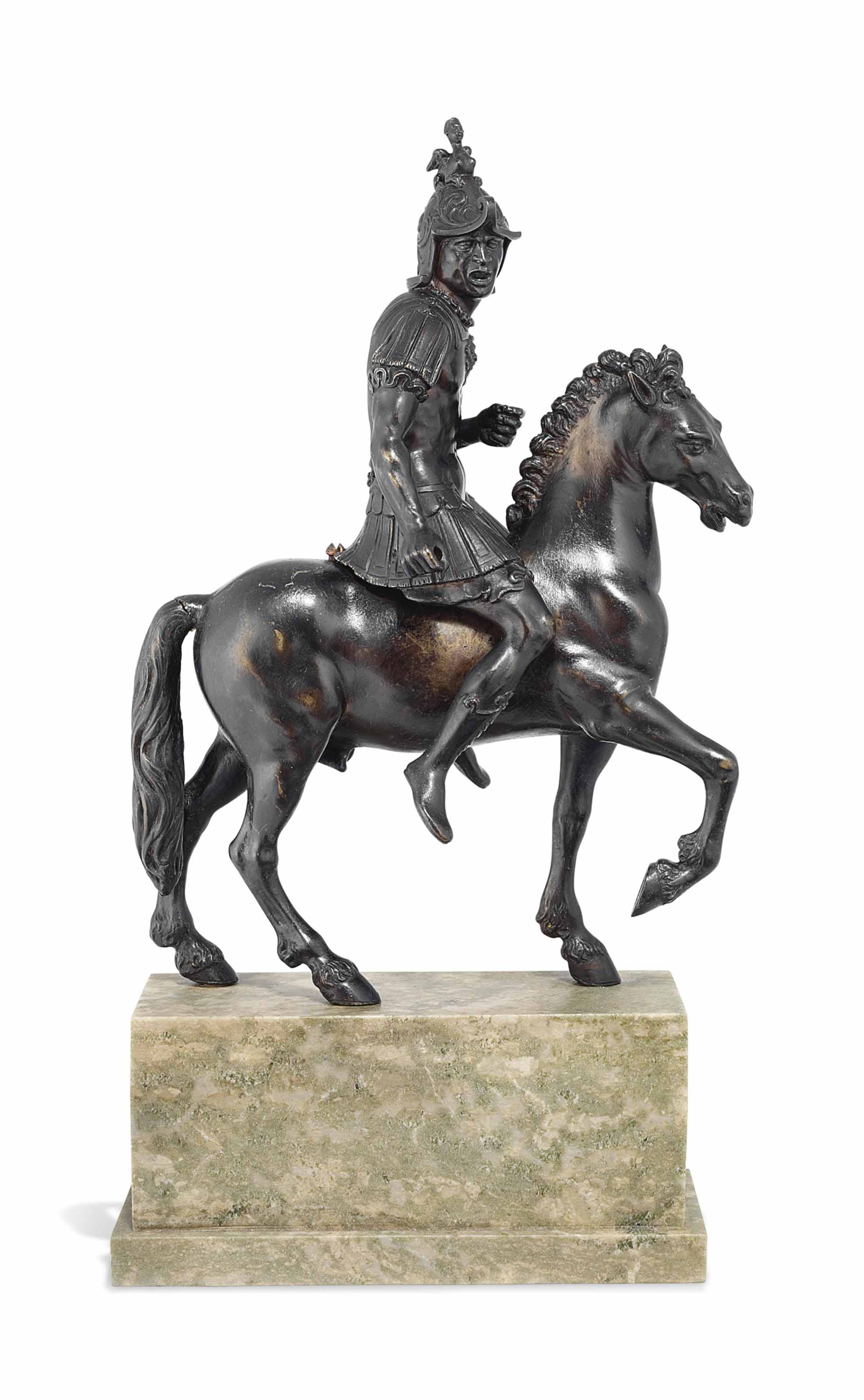 A BRONZE MODEL OF THE SHOUTING HORSEMAN