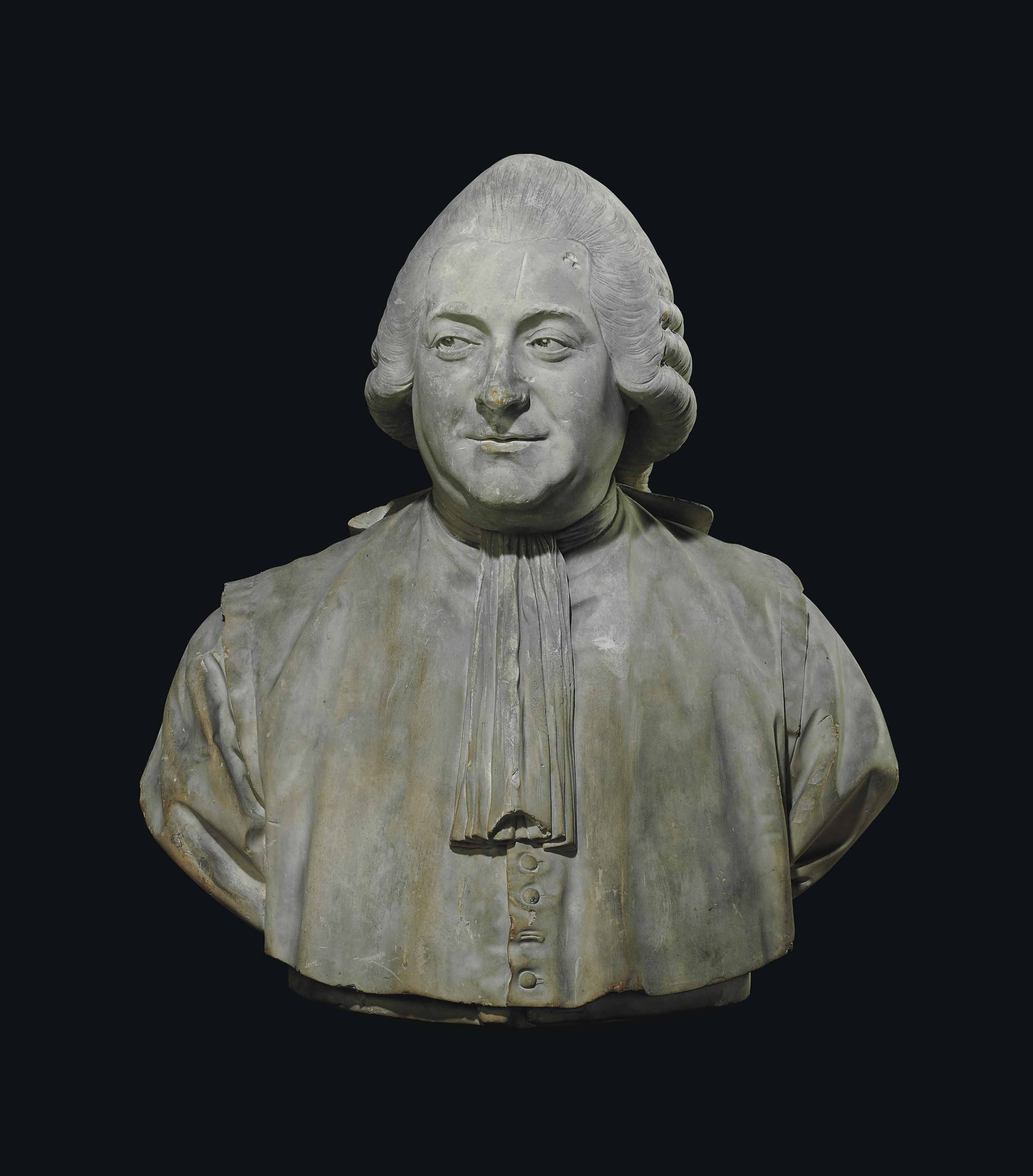 A PLASTER BUST OF JEAN-PIERRE-CHARLES LE NOIR (1732-1807)