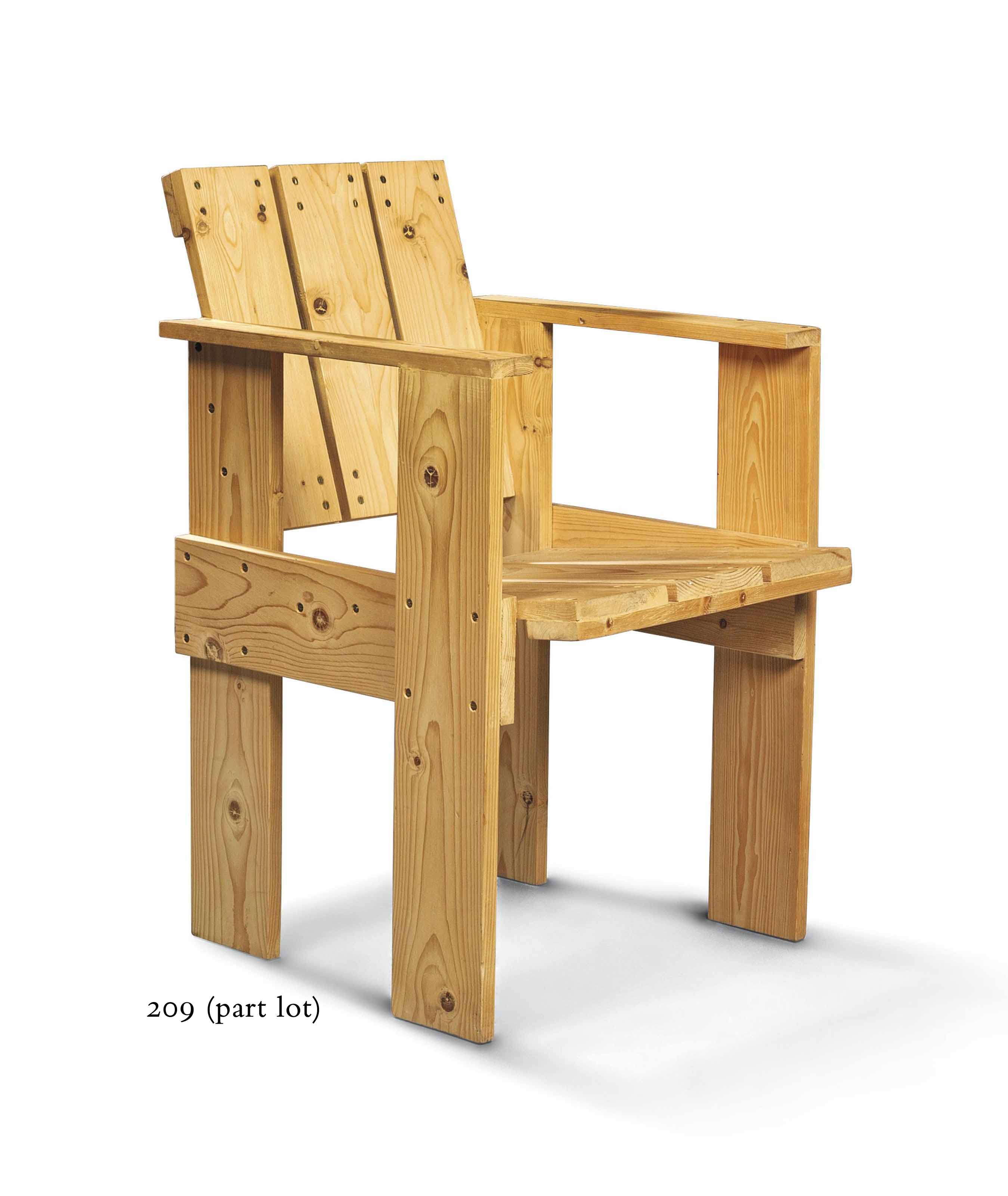 GERRIT THOMAS RIETVELD (1888-1964) , A CRATE CHAIR ...