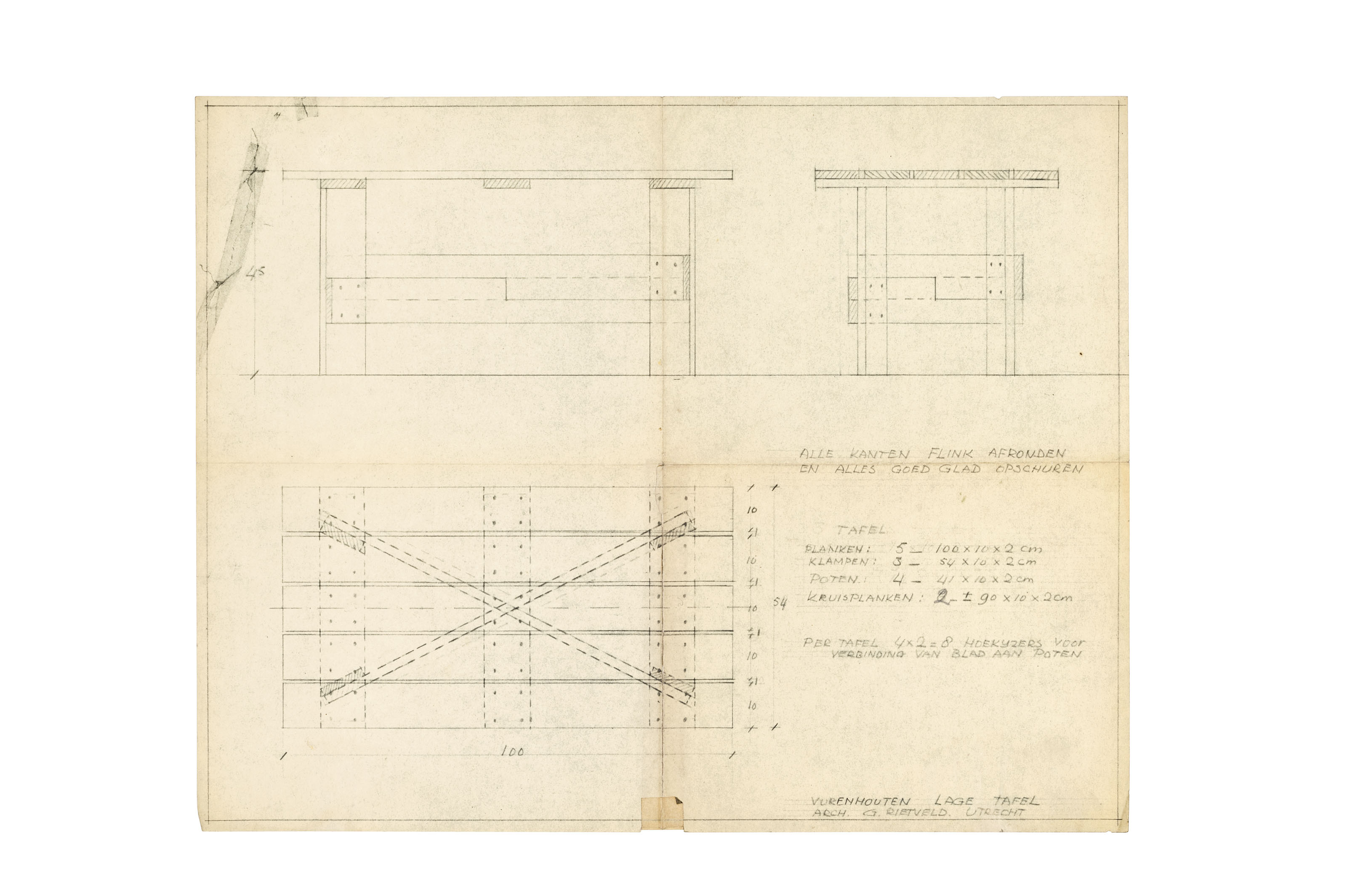Gerrit Rietveld Crate Chair Plans
