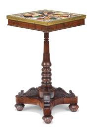A GEORGE IV ROSEWOOD AND SPECI