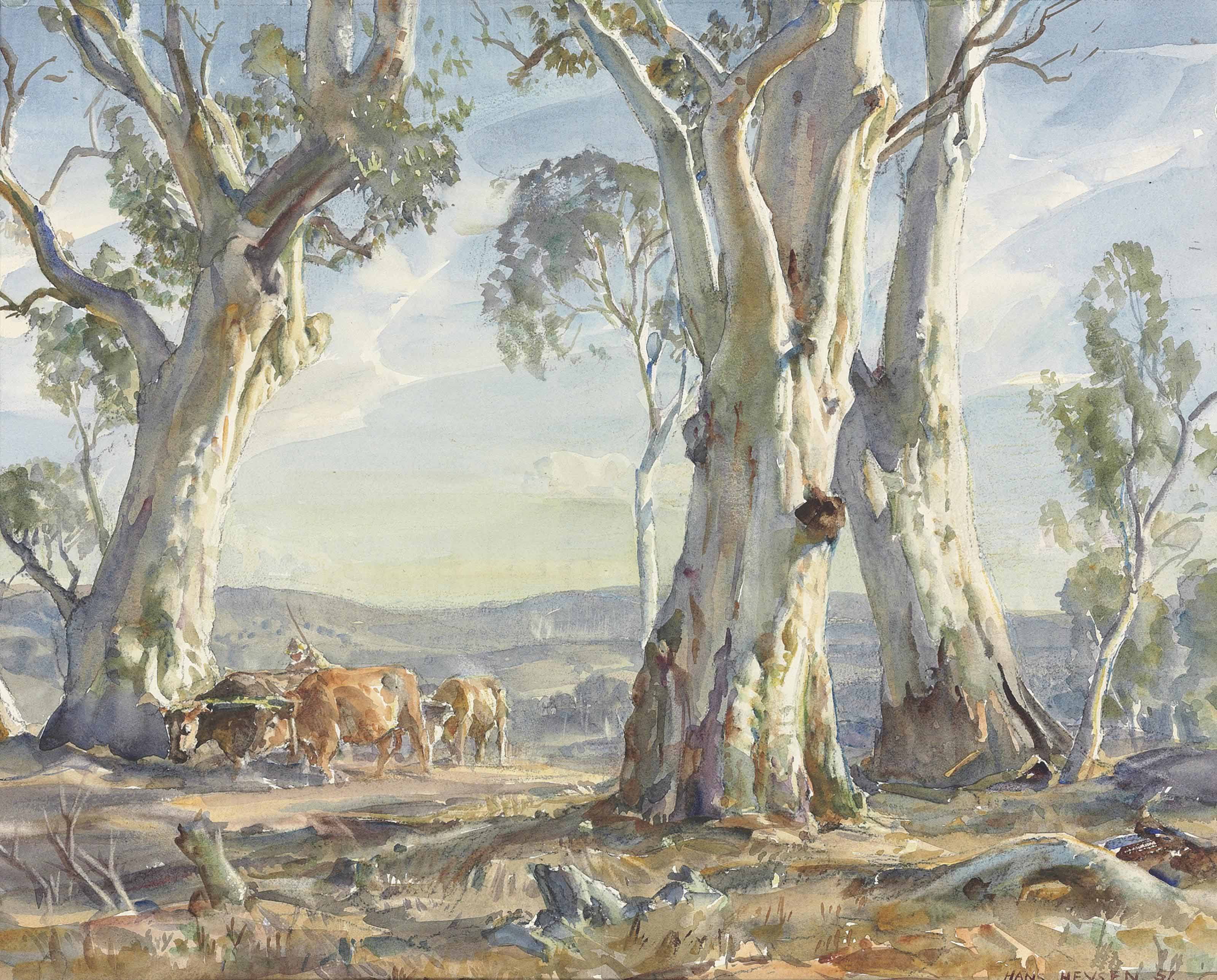 A drover and cattle, Ambleside
