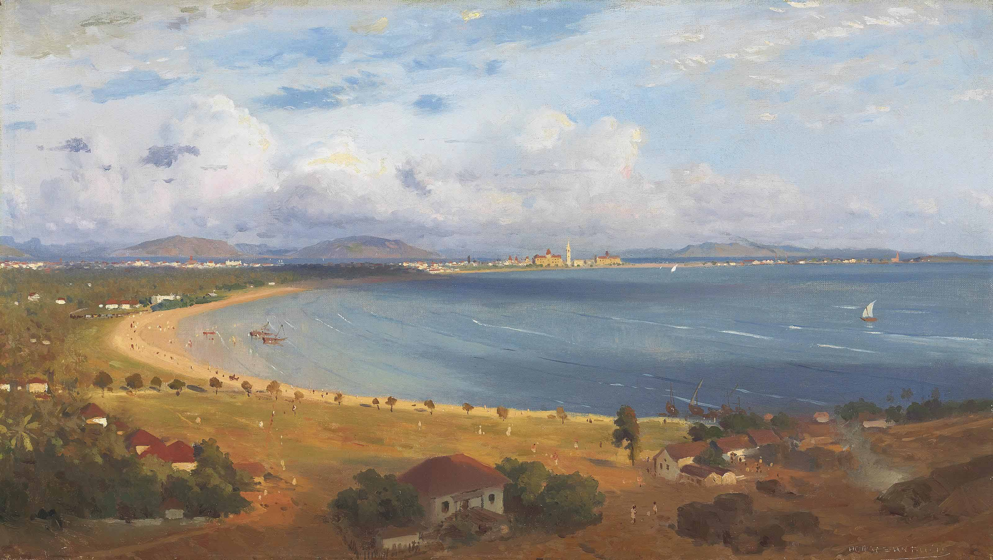 The Back Bay at Bombay, from Malabar Hill
