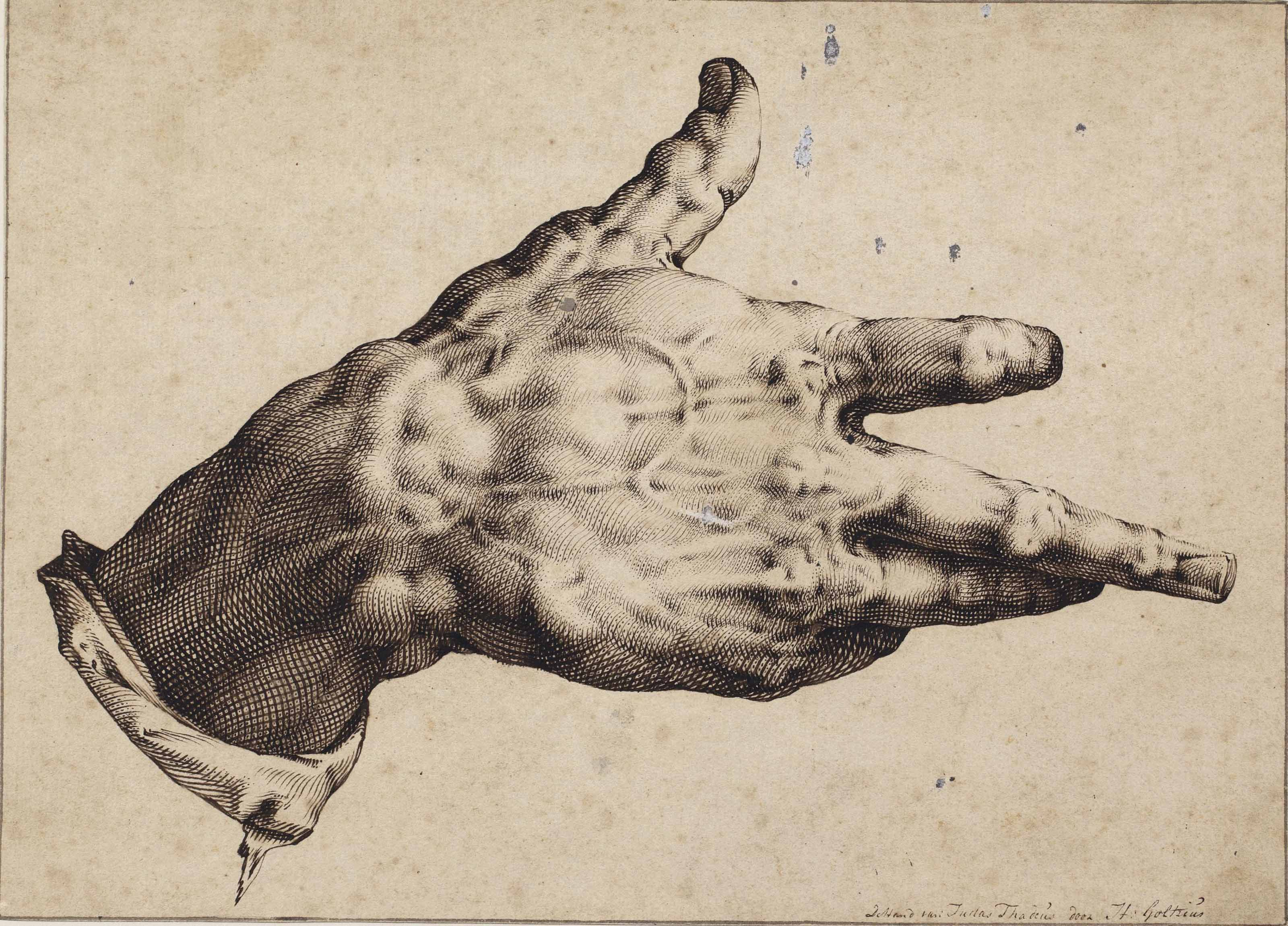 The artist's right hand