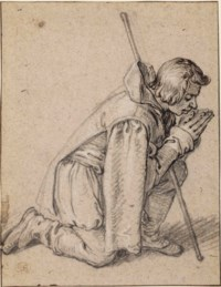 A kneeling shepherd