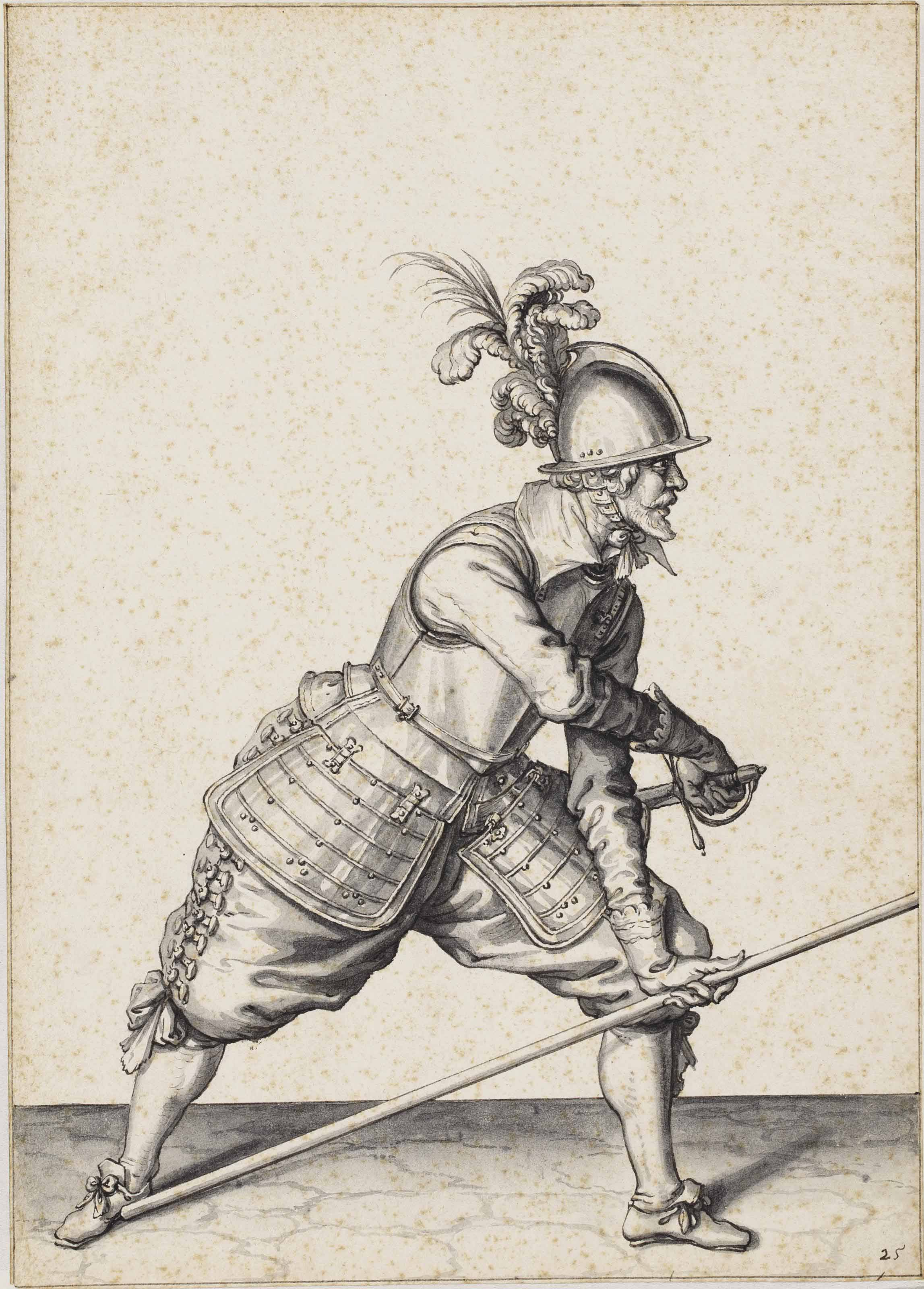 The Exercise of Armes: 'Charge your pike at the right foote and draw your sword'