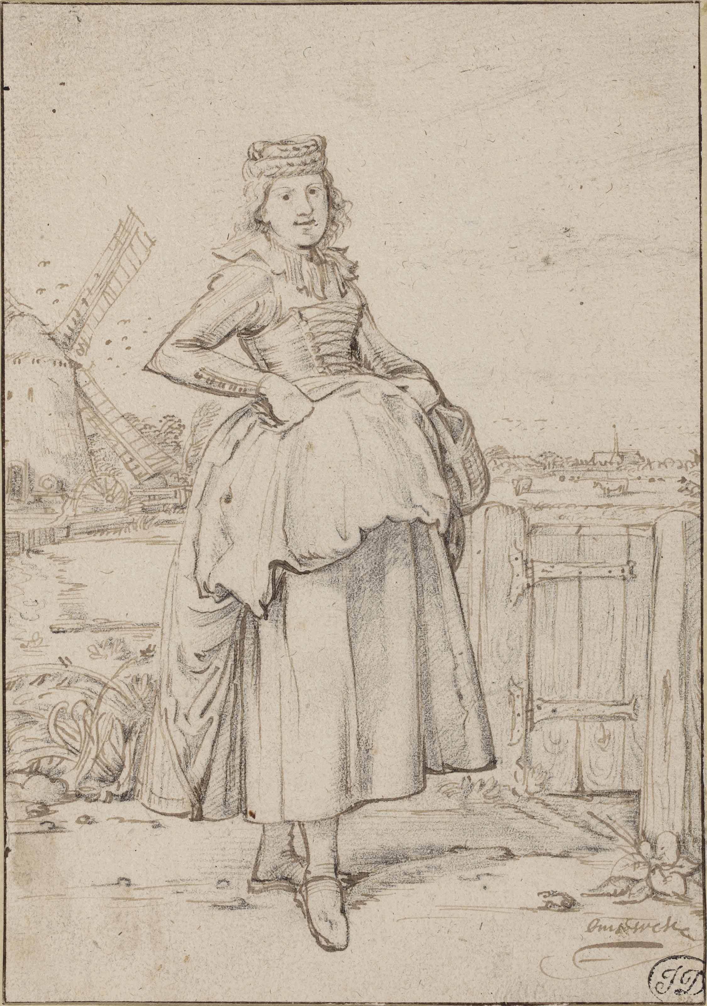 A peasant girl from Alkmaar