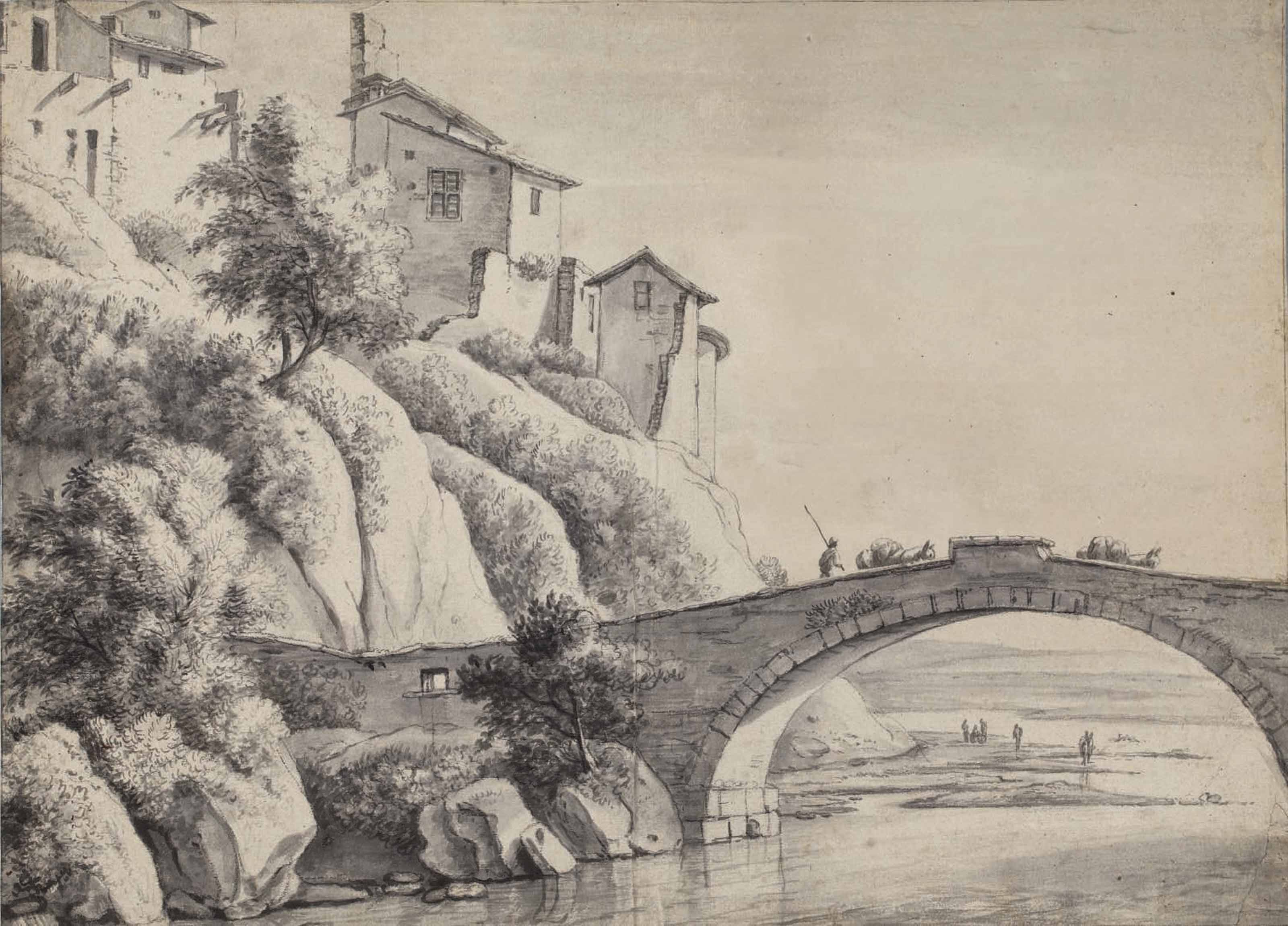 View of the bridge at Francheville near Lyon