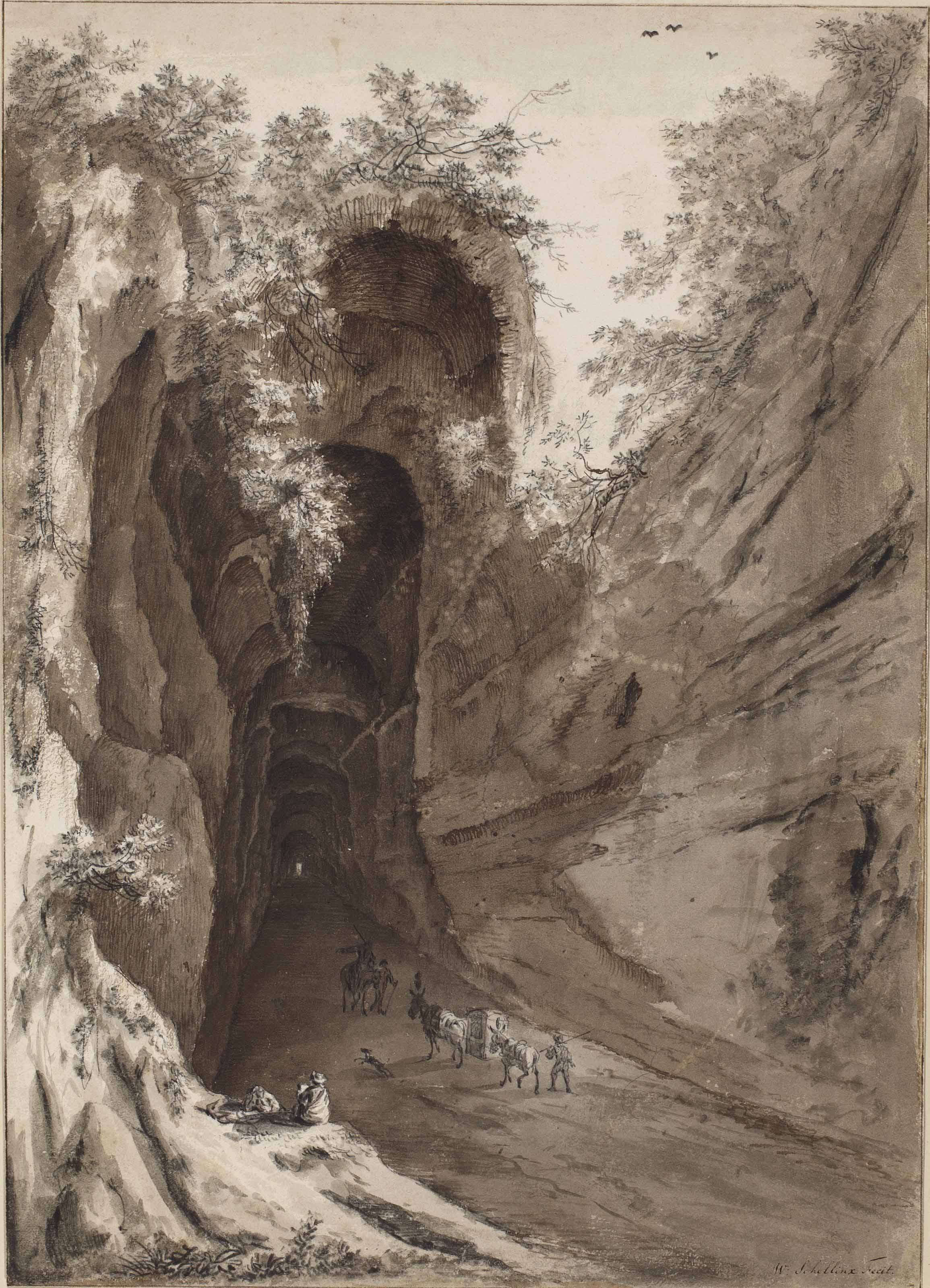 The Grotto of Virgil at Posillipo near Naples