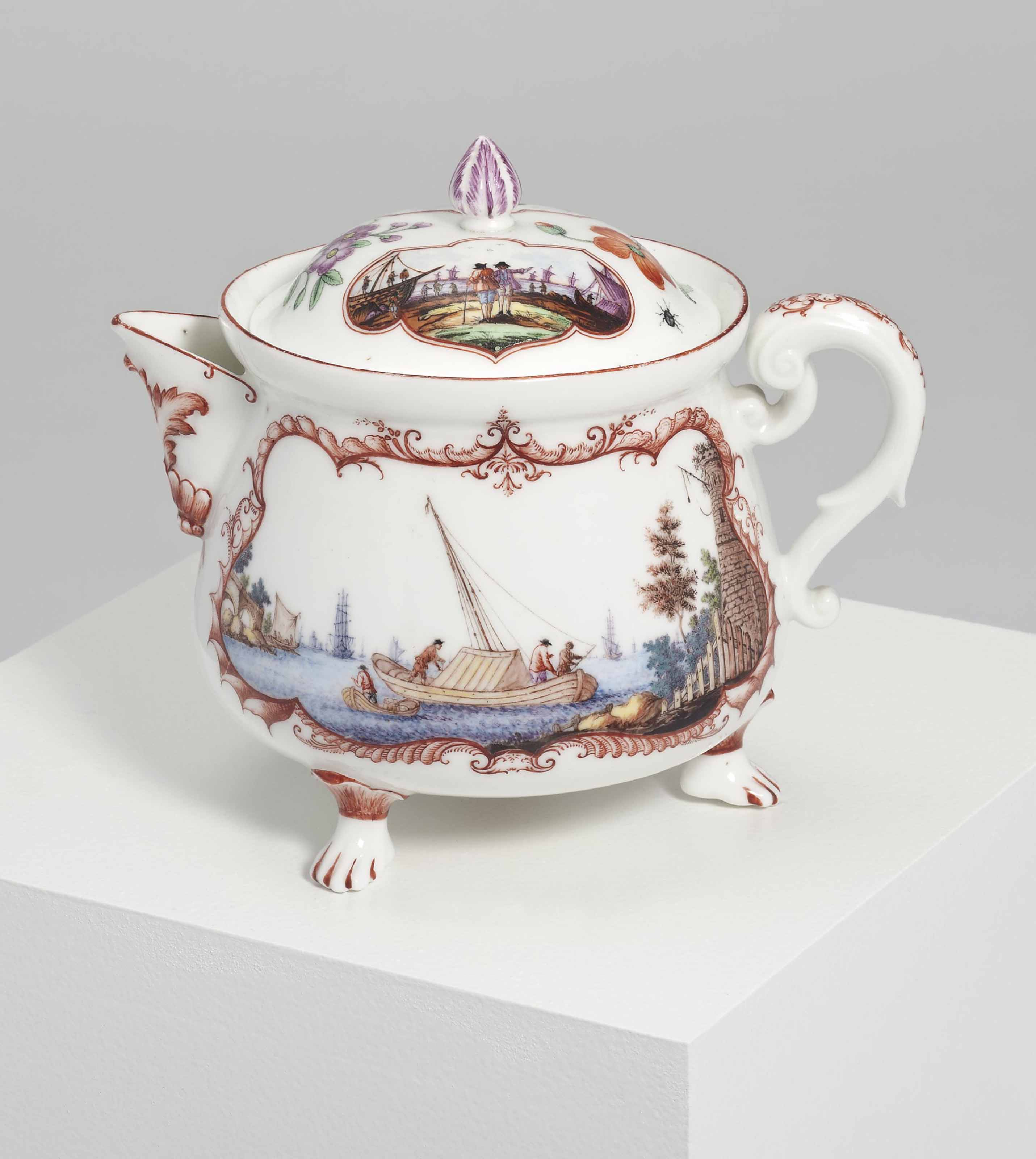 A VINCENNES BALUSTER POT AND A