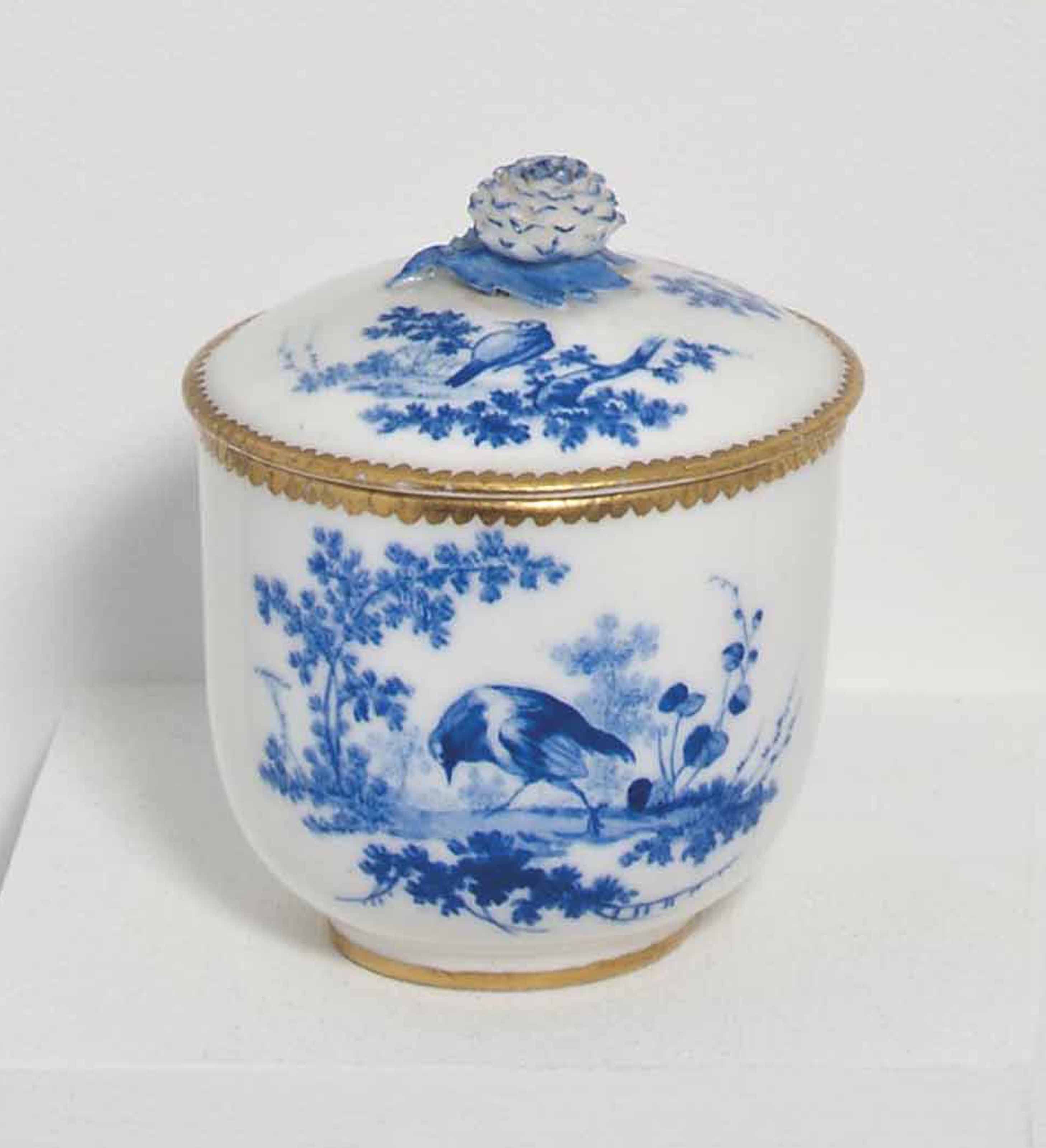 A SEVRES SUGAR-BOWL AND COVER