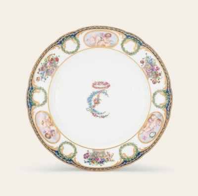 A SEVRES PLATE FROM THE MARIE