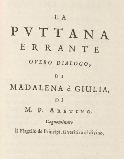 ARETINO, Pietro (1402-1556). C
