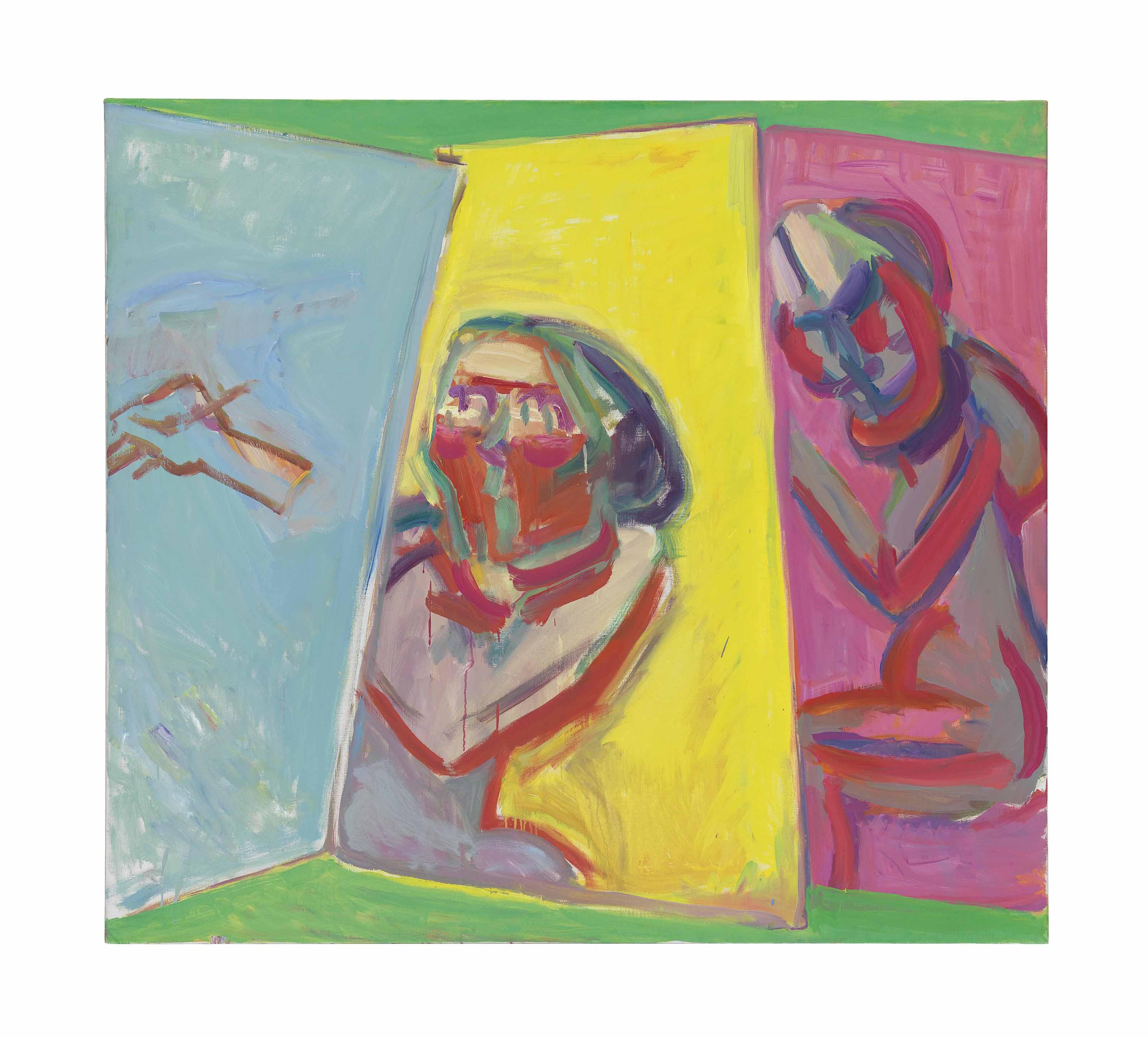 Zwei Maler, drei Leinwände (Two Painters, Three Canvases)
