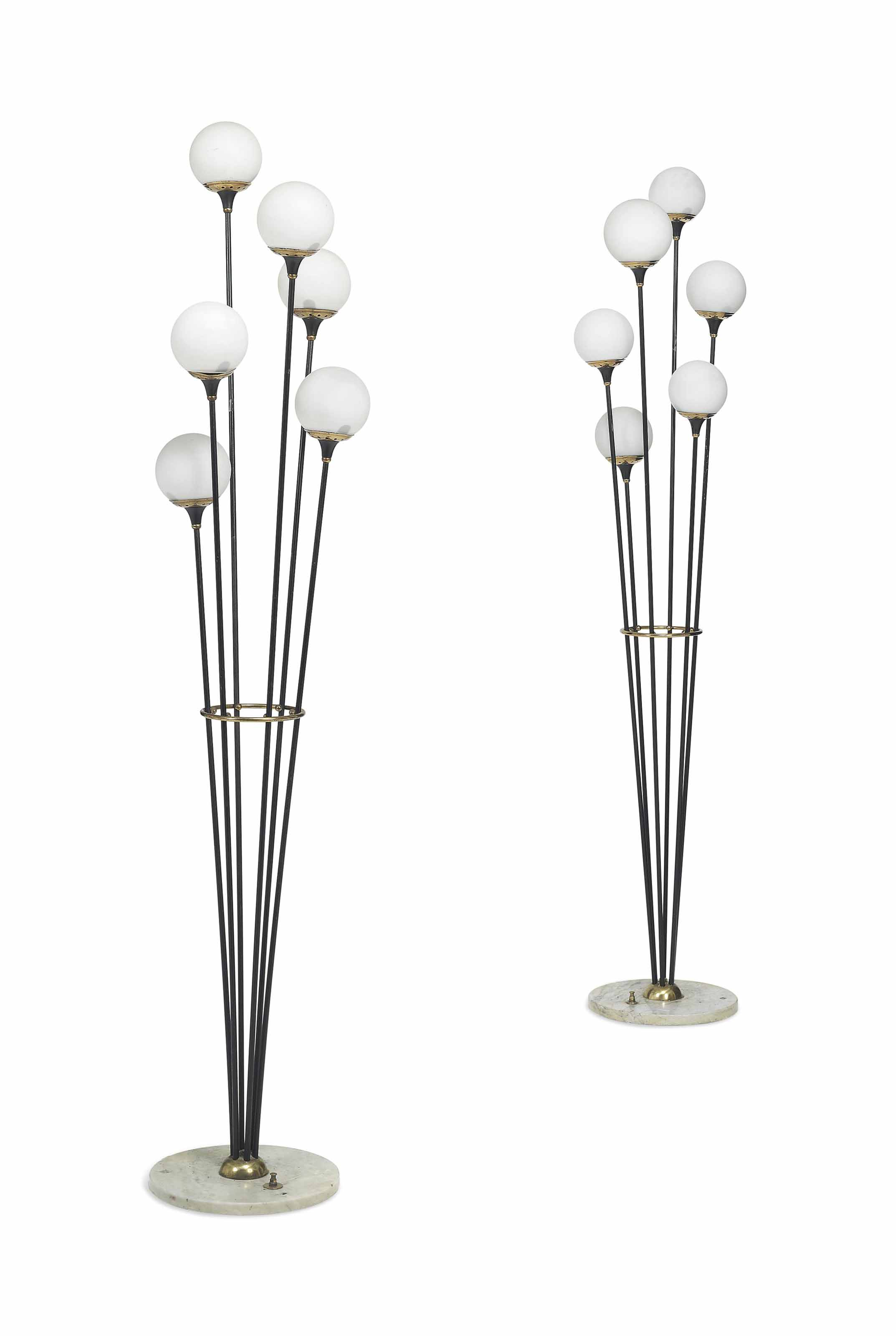 A PAIR OF STILNOVO FLOOR LAMPS