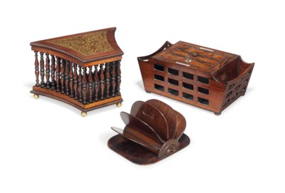 A GEORGE IV INDIAN ROSEWOOD LE