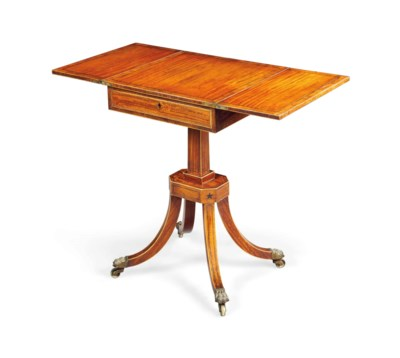 A REGENCY SATINWOOD AND INDIAN