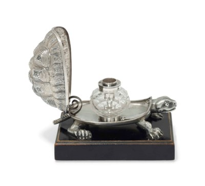 A VICTORIAN SILVER NOVELTY INK