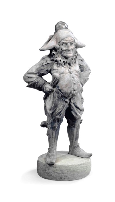 AN EDWARDIAN LEAD FIGURE OF MR