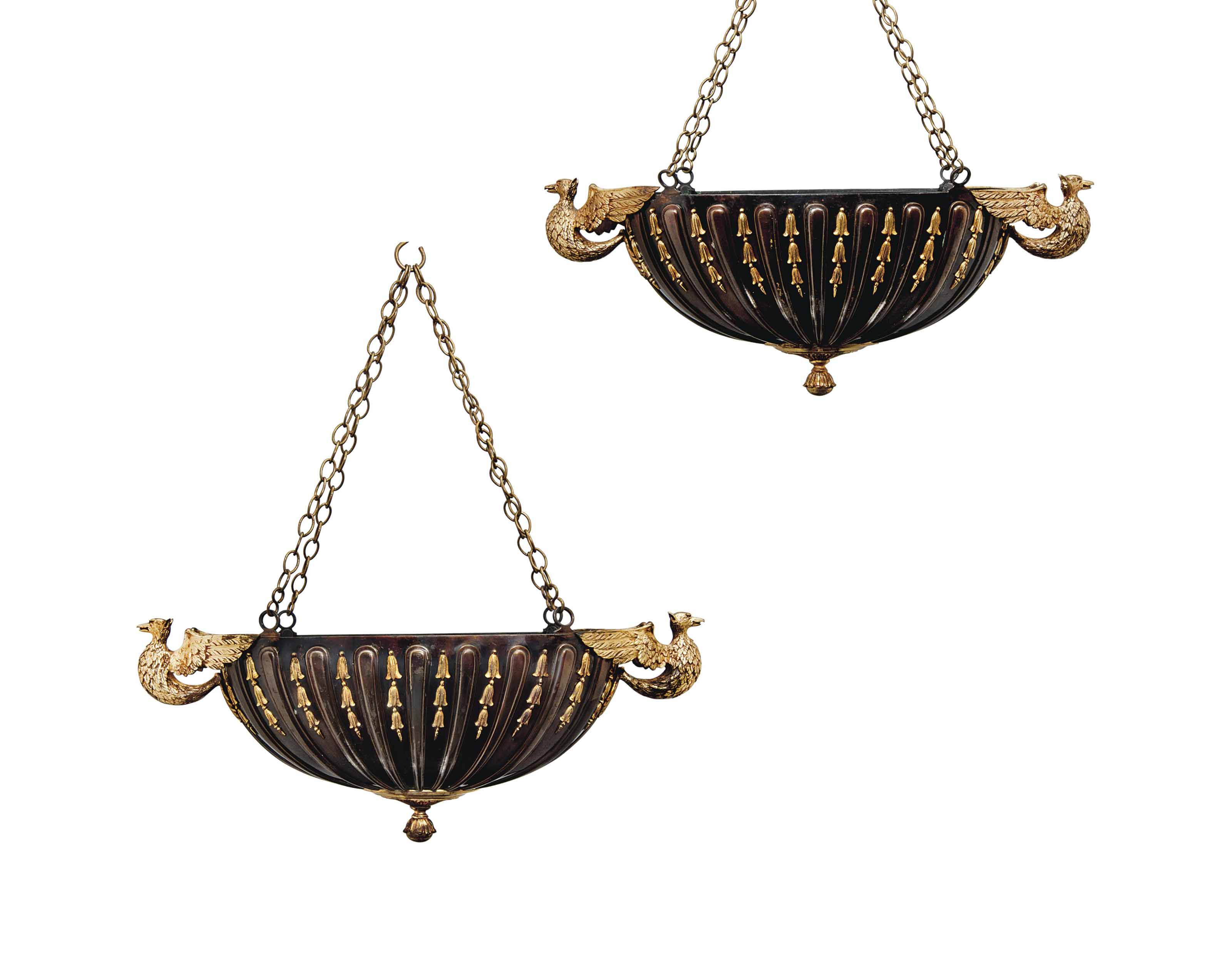 A PAIR OF CONTINENTAL GILT AND