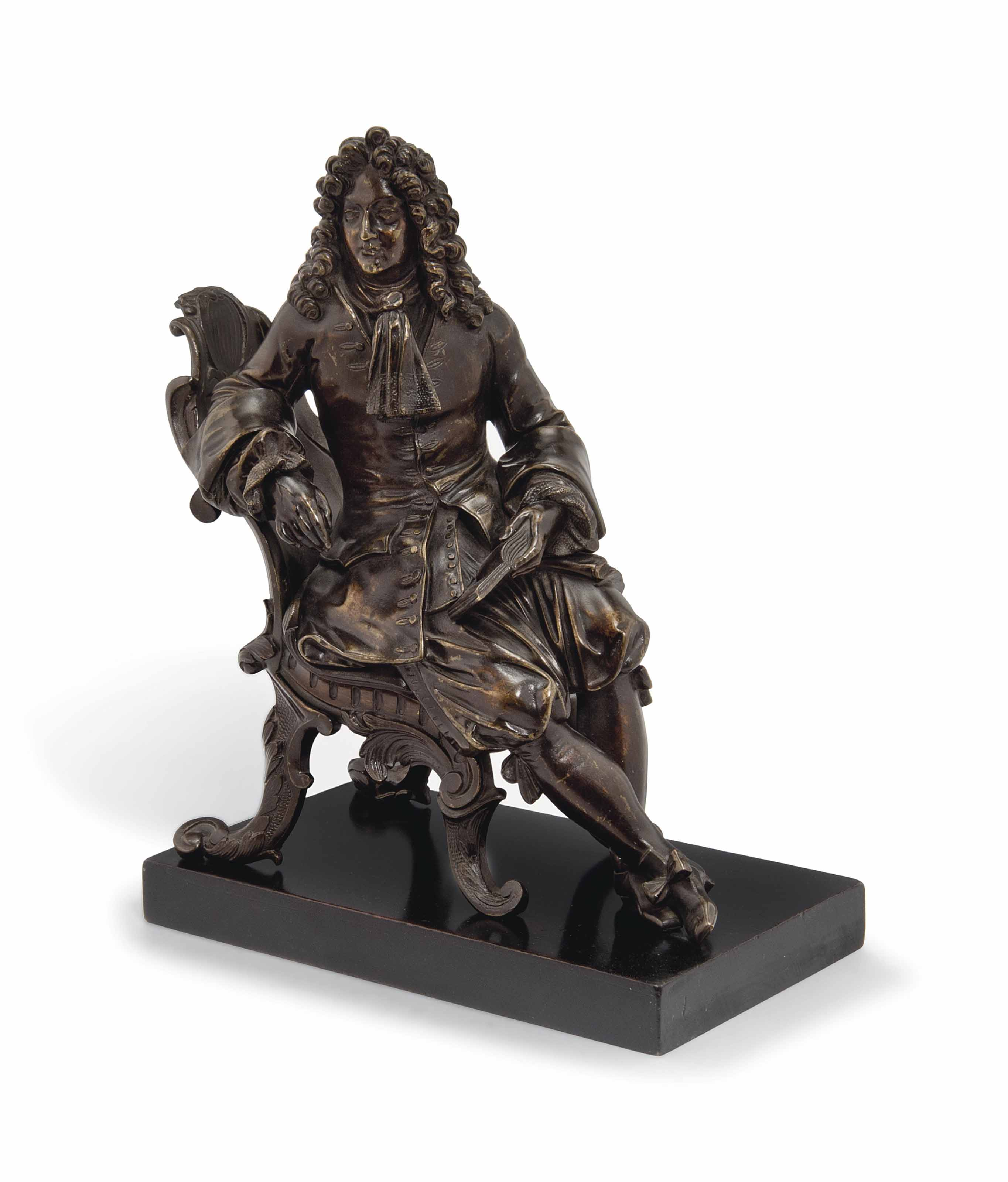 A FRENCH BRONZE FIGURE OF A PO