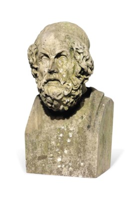 AN ITALIAN MARBLE BUST OF HOME