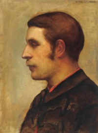 Portrait of Lord Henry Morton Stanley (1841-1904), later the artist's husband, bust-length