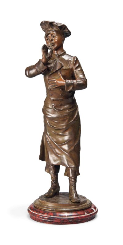 A FRENCH BRONZE MODEL OF A YOU