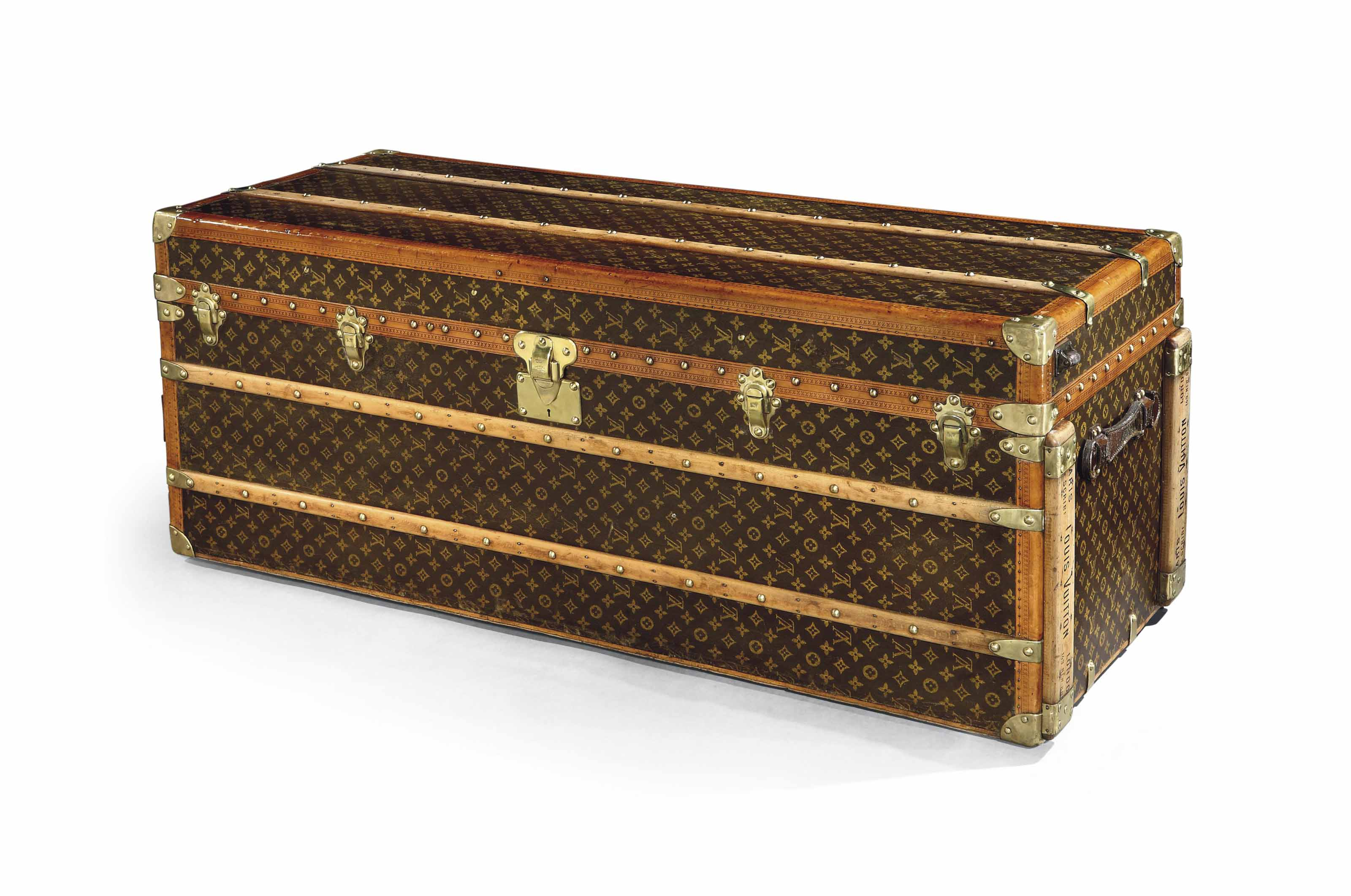 A RARE EXTRA TALL MONOGRAM CANVAS WARDROBE TRUNK