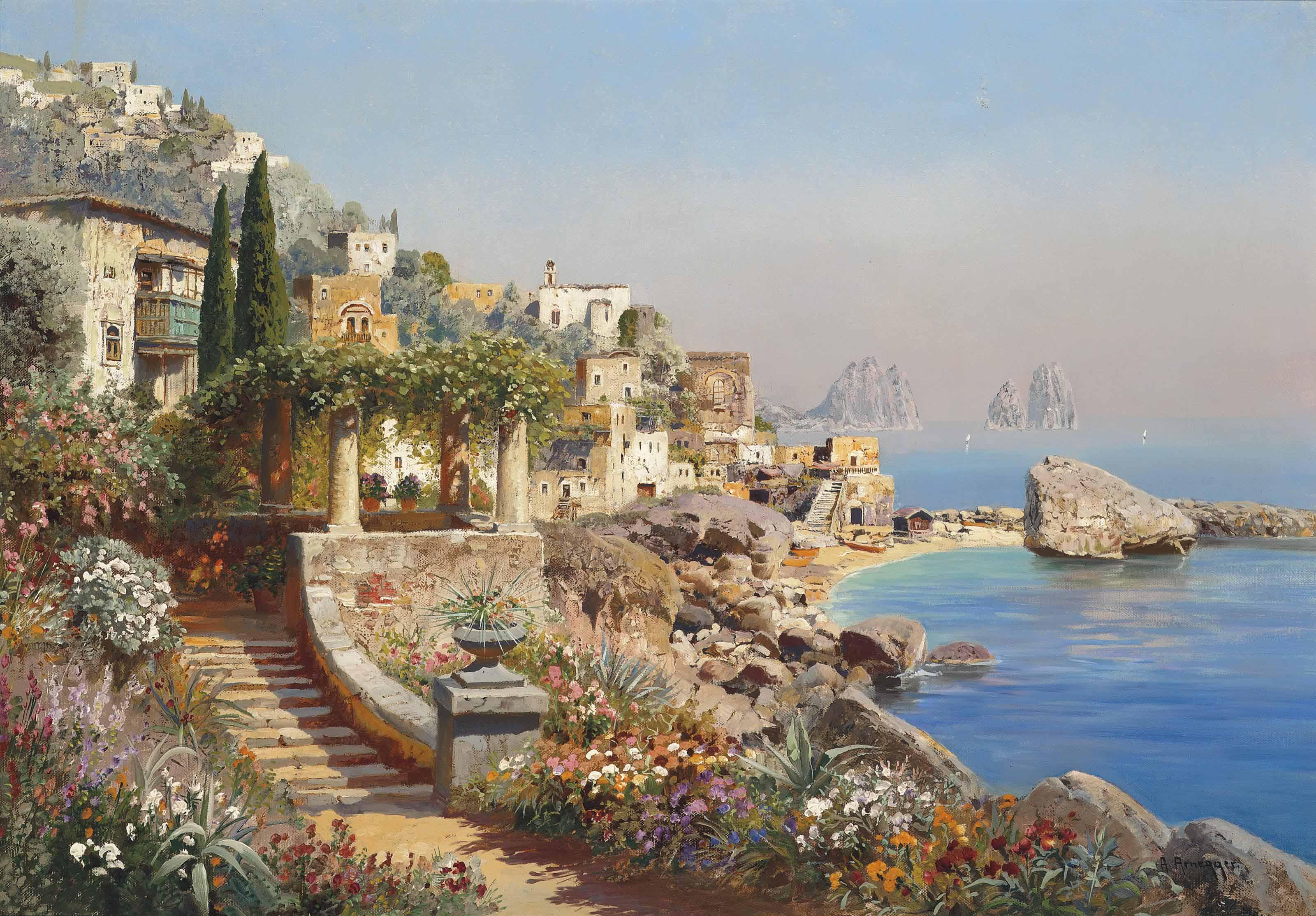 A villa on the coast, Capri