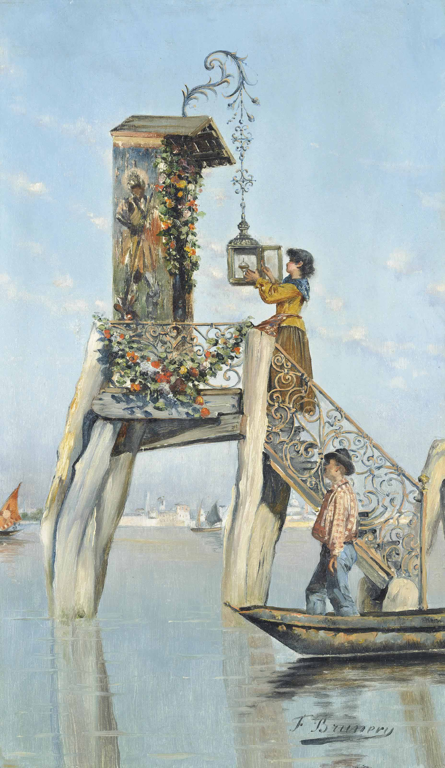 An offering on the Venetian lagoon