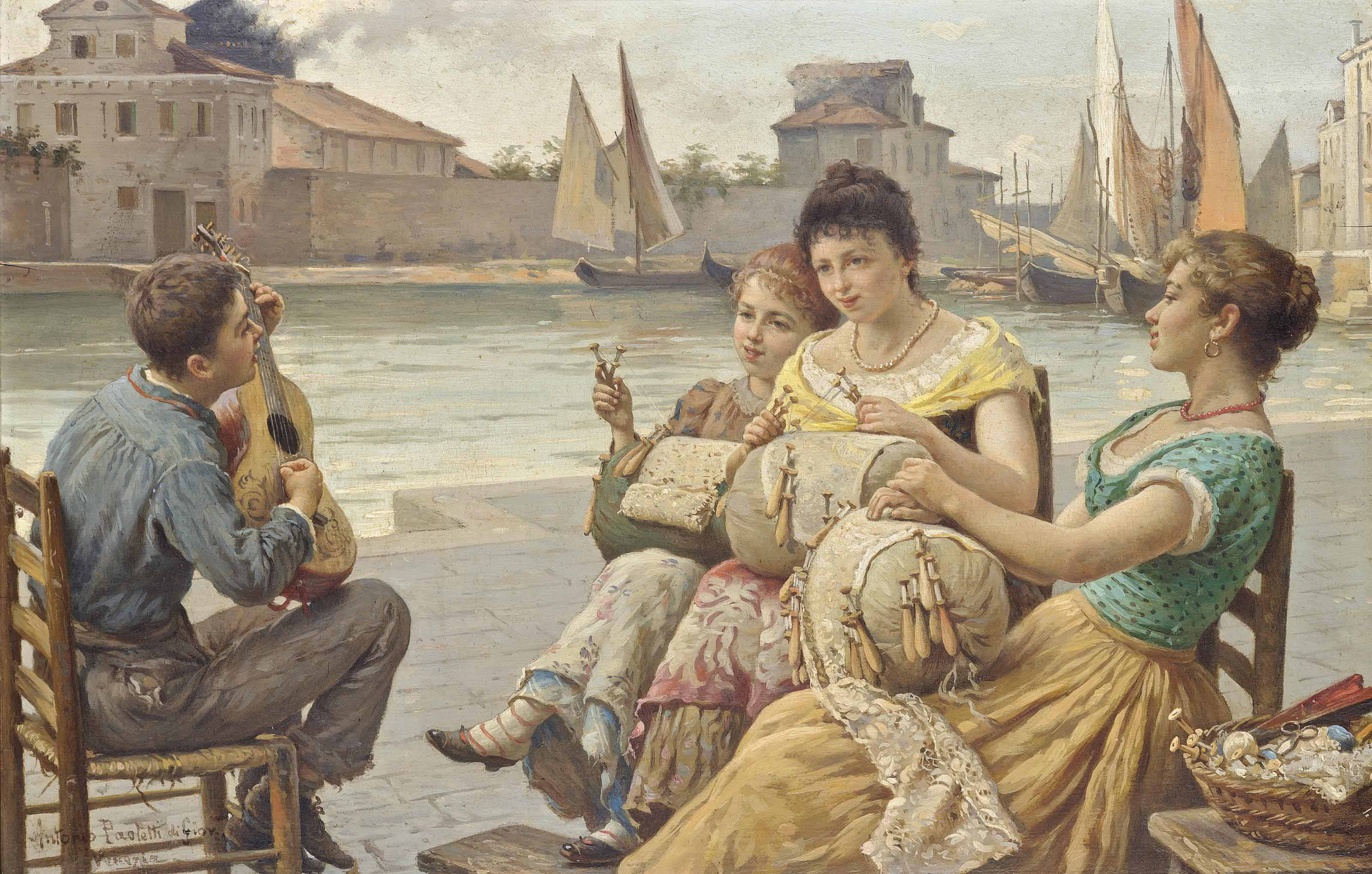 A serenade for the lacemakers, Venice