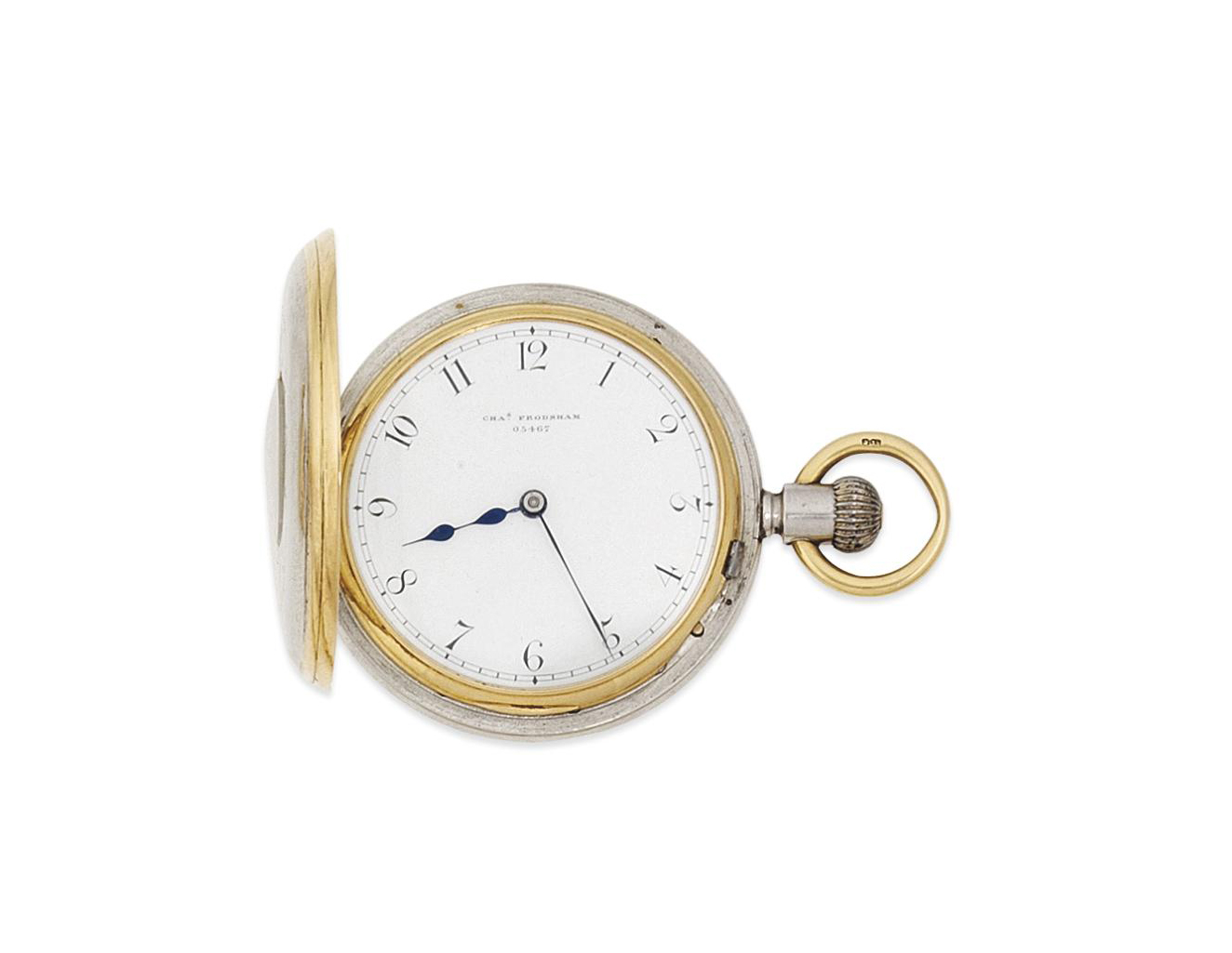 An 18ct gold and platinum demi-hunter pocket watch, by Frodsham