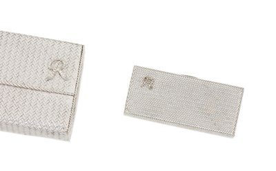A diamond-set clutch bag and c