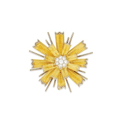 A diamond brooch, by Tiffany &